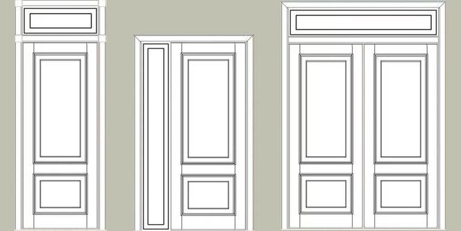 межкомнатные двери с фрамугой